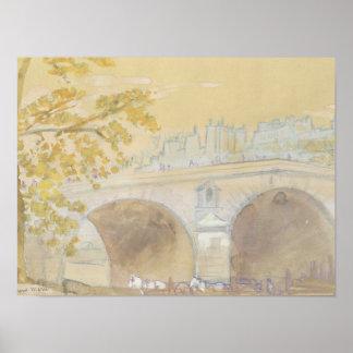 Pont Marie von Quai DES Celestins Poster