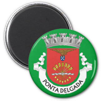 Ponta Delgada* Azoren Kühlschrank-Magnet Runder Magnet 5,1 Cm