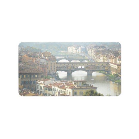Ponte Vecchio alte Brücke Florenz Italien Adressaufkleber