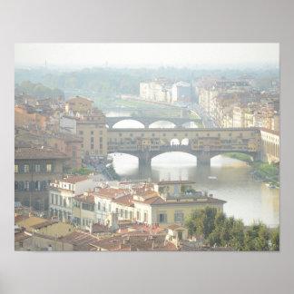 Ponte Vecchio alte Brücke Florenz Italien Poster