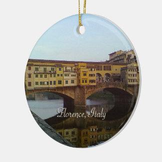 Ponte Vecchio altes Geschenk Brücken-Florenz Keramik Ornament
