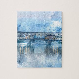 Ponte Vecchio auf dem Arno in Florenz, Italien Puzzle