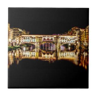 Ponte Vecchio bis zum Nacht Fliese