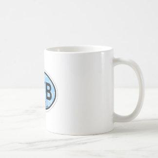 Ponte Vedra Beach - blauer ovaler Entwurf Kaffeetasse