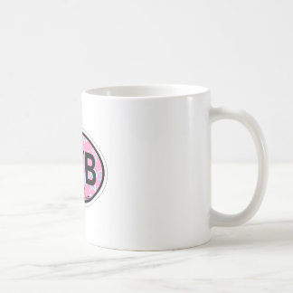 Ponte Vedra Beach - rosa ovaler Entwurf Kaffeetasse