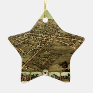 Pontiac Michigan 1867 Keramik Ornament