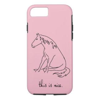 Pony-Linien - dieses ist Nizza iPhone 8/7 Hülle