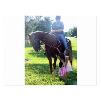 Pony-Mädchen Postkarte
