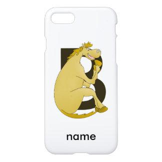 Pony-Monogramm-Buchstabe B iPhone 8/7 Hülle