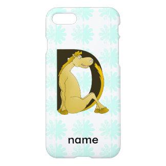 Pony-Monogramm-Buchstabe D personalisiert iPhone 8/7 Hülle