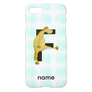 Pony-Monogramm-Buchstabe F personalisiert iPhone 8/7 Hülle