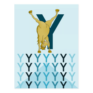 Ponyflagge der hellblauen Karte y-Buchstaben