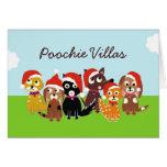 Poochie Landhaus-Weihnachten Grußkarte