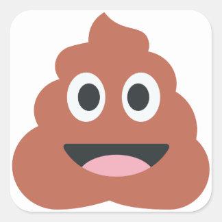 Pooh Twitter Emoji Quadratischer Aufkleber