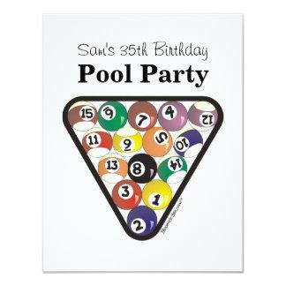 Pool-Ball-Gestell 10,8 X 14 Cm Einladungskarte