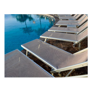 Pool-Entspannung mit Palme-Reflexions-Postkarte Postkarte