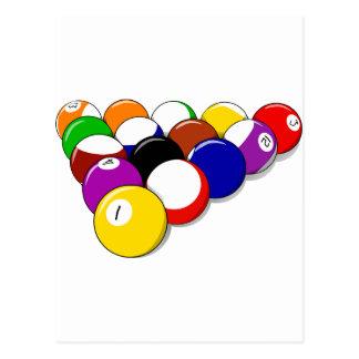 Pool-Hall-Ball-Gestell-EM trägt Freizeit-Billard z Postkarten