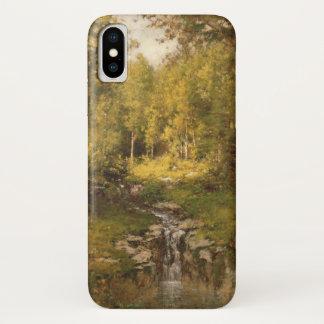 Pool im Holz iPhone X Hülle
