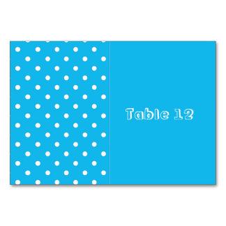Pool-Party-blaue Polka-Punkt-Tabellen-Karten