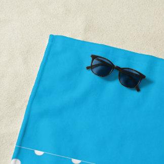 Pool-Party-blaue Polka-Punkte Strandtuch