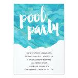 Pool-Party des Hinterhof-Spritzen-| 12,7 X 17,8 Cm Einladungskarte