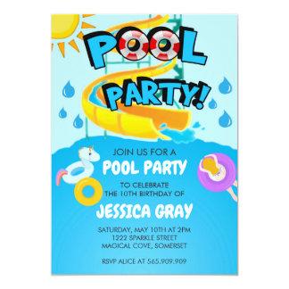 Pool-Party-Einladungen Einladung