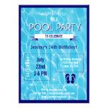Pool-Party Einladungs-Blau Ankündigungen
