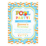 Pool-Party Einladungs-/Pool-Party laden ein
