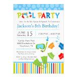 Pool-Party-Geburtstags-Einladung