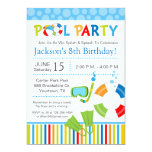 Pool-Party-Geburtstags-Einladung 12,7 X 17,8 Cm Einladungskarte