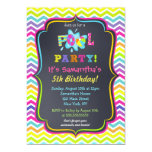 Pool-Party-Geburtstags-Einladungen 12,7 X 17,8 Cm Einladungskarte