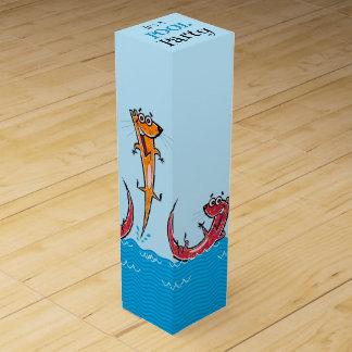 Pool-Party-Otter Flaschen Geschenkverpackungen