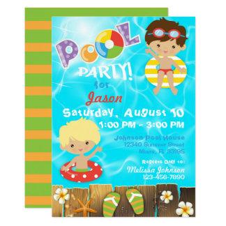 Pool-Party scherzt Schwimmen-Geburtstag Karte