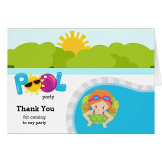 Pool-Partymädchen Karte