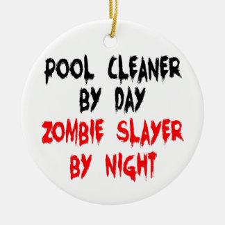 Pool-Reiniger-ZombieSlayer Keramik Ornament