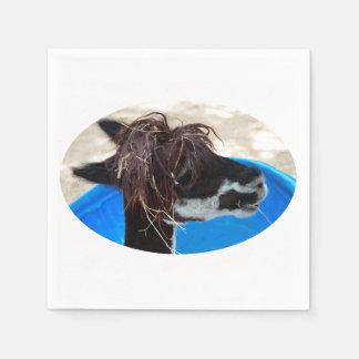 Pool-Vieh des Lamahaares unkept blaues Serviette