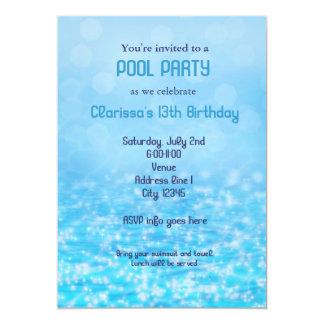 Pool-Wasserswim-Schwimmen-Sommer-Strand-Party Karte