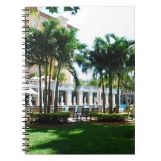 Poolbereich Miamis Biltmore Spiral Notizblock