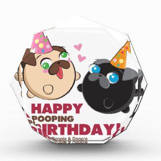 Poopie und Doopie Geburtstag Acryl Auszeichnung