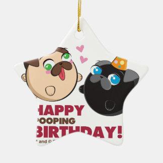 Poopie und Doopie Geburtstag Keramik Ornament
