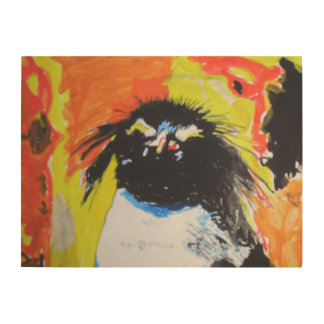 Pop Art Penguin Holzleinwand