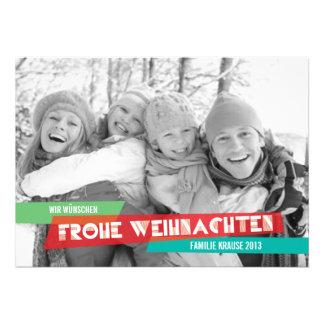 Pop der Farbe Weihnachtskarte Personalized Announcements