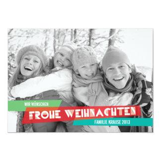 Pop der Farbe Weihnachtskarte Personalisierte Ankündigungskarte
