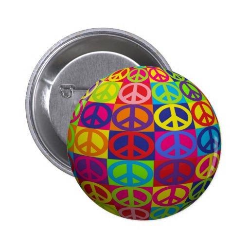 Pop-Friedensball Anstecknadelbuttons