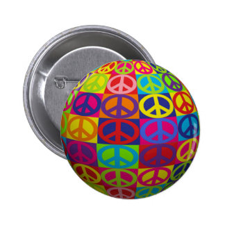 Pop-Friedensball Runder Button 5,1 Cm