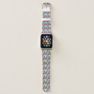 Pop-Kunst-Ananas und Palmblätter Apple Watch Armband
