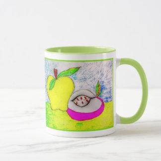 Pop-Kunst-Äpfel Tasse