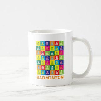 Pop-Kunst-Badminton Kaffeetasse