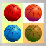 Pop-Kunst-Basketball-Plakat