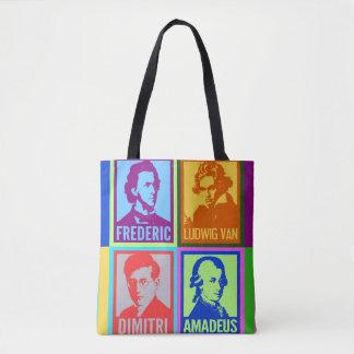 Pop-Kunst-bunte Komponisten Tasche